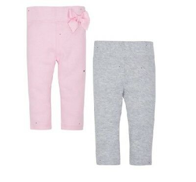 Gerber Baby Girl 2-Pack Organic Cotton Pink//Gray Pants Size Newborn