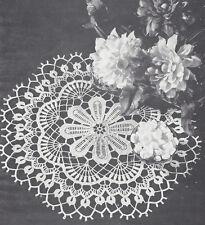Vintage Crochet PATTERN to make Doily Centerpiece Mat Dahlia Flower Floral