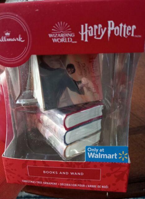 Hallmark 2020 Harry Potter Books And Wand Wizarding World Christmas Ornament