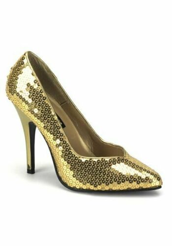 Pleaser SEDUCE-420SQ 5 Inch Classic Pump With Sequins