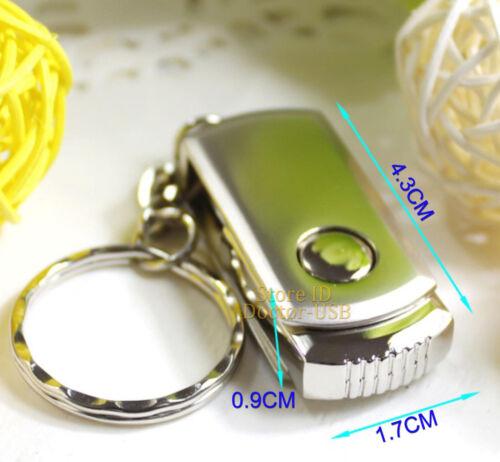 128MB Swivel Memory Flash USB Drive Metal Thumb Stick Pendrives with Keychain
