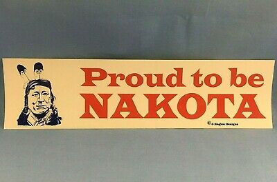 """VINTAGE BUMPER STICKER  ~L@@K~ /""""PROUD TO BE CHOCTAW INDIAN/"""""""