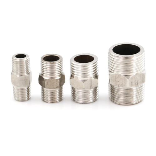 Stainless Steel 304 Male to Male Hex Nipple Threaded Reducer Pipe Fitting SP