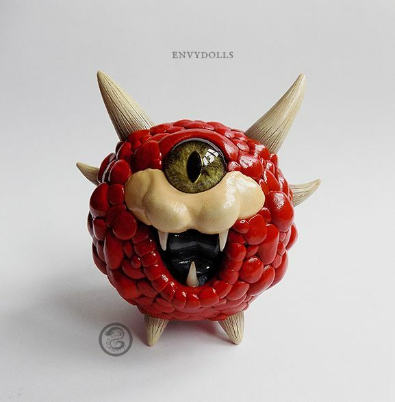 CACODEMON chibi cute Doom sculpture ; handmade