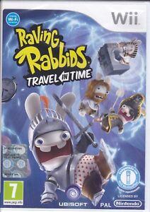 Nintendo-Wii-RAVING-RABBIDS-TRAVEL-IN-TIME-nuovo-sigillato-italiano-pal
