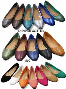 New-women-lady-basic-ballet-flats-slip-on-loafer-shoes-all-colors