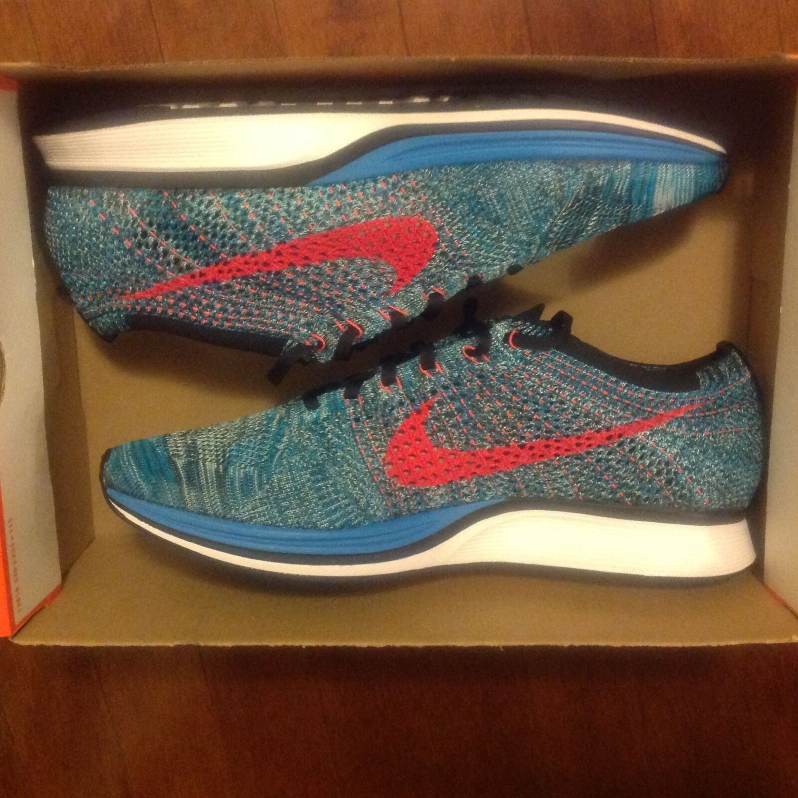 Nike Flyknit Racer Neo Turquoise, Sz 13, New in Box, Price reduction Seasonal clearance sale