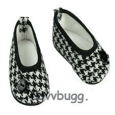 "Houndstooth Ballet Flats Dress Shoes for 18"" American Girl Doll Widest Selection"