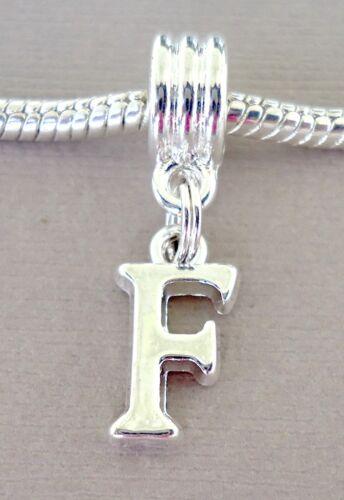 Letter Alphabet Pendant Dangle Bead Fit for European charm bracelet//necklace C43