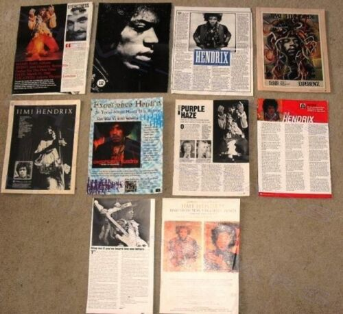 Jimi Hendrix Huge IMPORT MAGAZINE CLIPPINGS PACK Rock Psych Blues Guitar Music