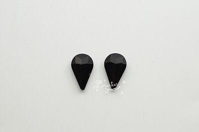 100 PCS 8mm x 13mm Colour Glass Faceted Glass Tear Drop Jewels