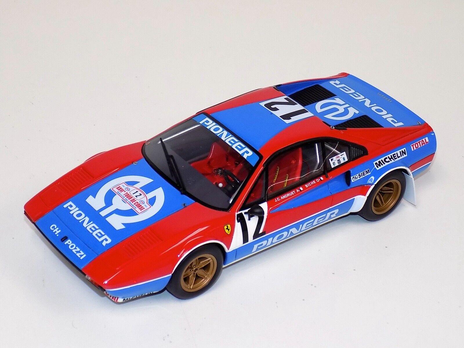 1 18 Otto GT Spirit Ferrari 308 GTB Grp 4 1982 Tour De Corse Rally OT657
