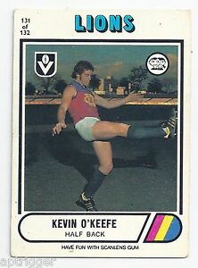 1976-Scanlens-131-Kevin-O-039-KEEFE-Fitzroy-Very-Good