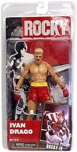 Neca Rocky Iv 4 Figurine Ivan Drago Short Rouge Sanglante Après Bataille Bataille Dégâts Nouveau