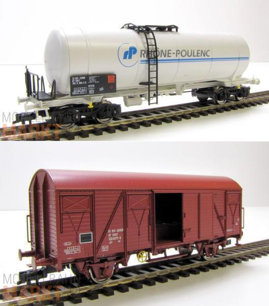FLEISCHMANN SNCF 2er -Set G 65533;65533;terwagen Kesselwagen Rhone -Poulenc Ep IV KK H0 NEU