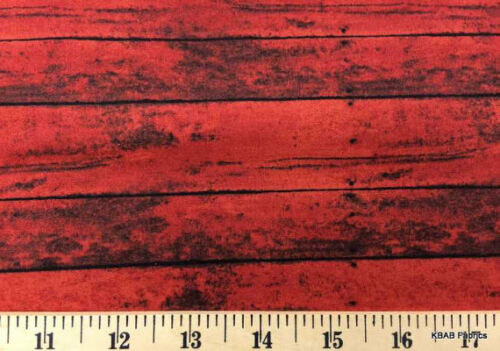red barn wood fabric lumber wood grain landscape cotton quilting fabric t416