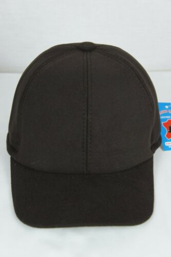 BROWN or BLACK Cashmere like BASEBALL TRUCKER TRAPPER EARFLAP CAP HAT M-4XL NWT