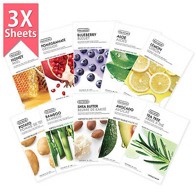 THE FACE SHOP Real Nature Mask Sheet (3/7/15/30pcs)