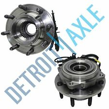 Set of (2) New FRONT Driver/Passenger Wheel Hubs and Bearings SRW for w/ ABS 4WD