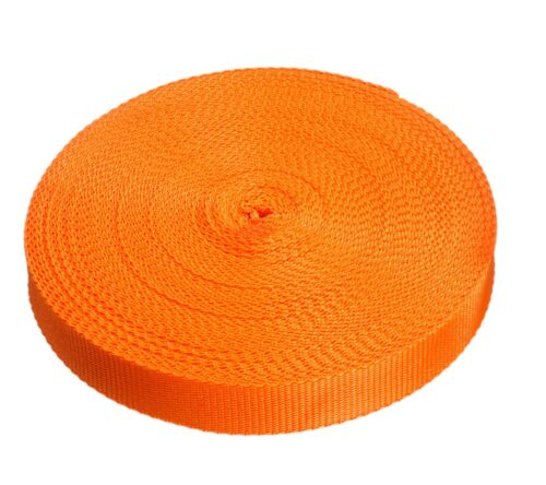 25mm orange Cincha Rollos polyproplene 440kg Correas Y Amarre