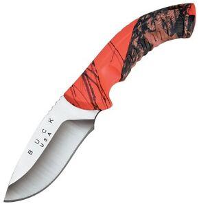 Buck-Omni-Hunter-12PT-Fixed-4-034-Blade-Mossy-Oak-Blaze-Camo-Handles-0392CMS9-NEW