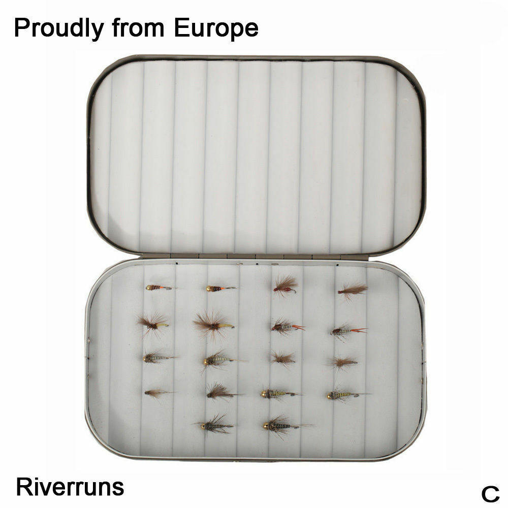 Riverruns Competition Flies 18 Selected Realistic Flies UV Trout With Fly Box