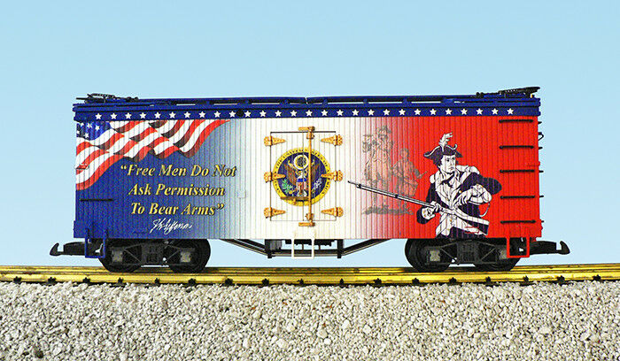 "USA Trains G Scale R16007 ""Free Men"" Patriotic Car"