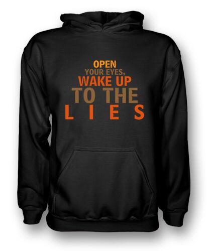 APRI gli occhi svegliati alle bugie-CONSPIRACY-Uomo Felpa con Cappuccio