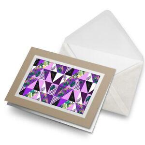 Greetings-Card-Biege-Purple-Tropical-Pattern-Surf-Surfer-Cool-24331