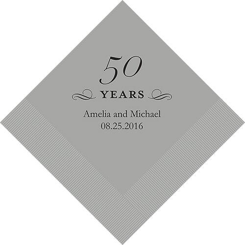 300 Printed 50th Anniversary Birthday Luncheon Napkins
