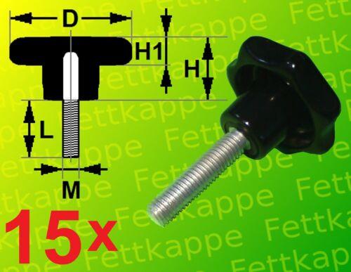 Griff Ø 63mm Sternschrauben Klemmschrauben 15 x Sterngriffschraube M8 x 40mm
