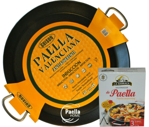 50cm Vitroceramic Non Stick Stainless Steel Induction Paella Pan 28cm GIFT