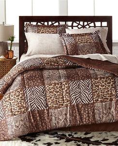Leopard-Safari-Wild-Cats-Animal-Print-Full-Comforter-Set-8-Piece-Bed-In-A-Bag