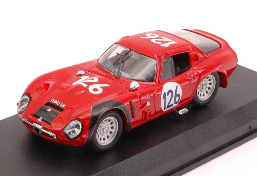 Alfa romeo tz2 targa florio 1966   126 4. pinto   n. todaro 1 43 modell