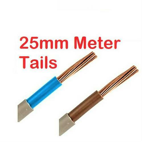Tails Twin and Earth Electric Cable Sockets-Cooker-Shower-Lighting-Garage