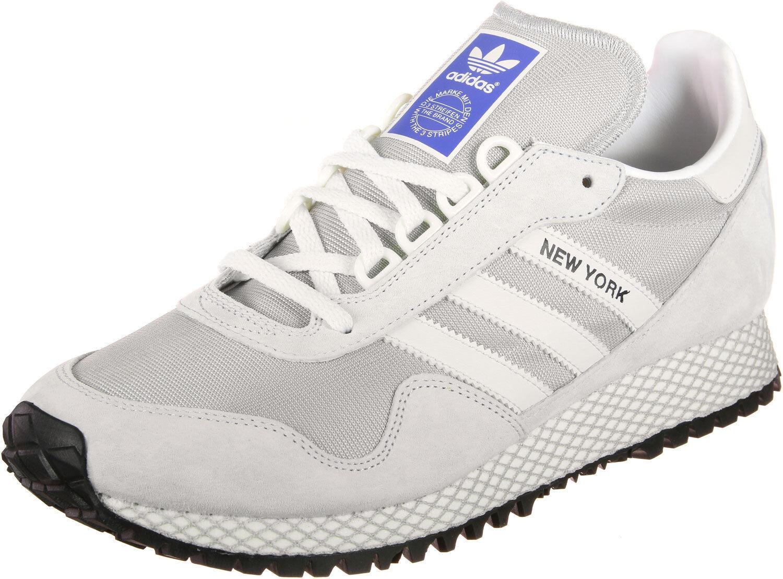 Mens Adidas New York shoes  Grey Off White Grey Two retro