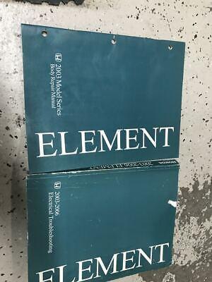 2003 2005 2006 honda element electrical wiring diagram  body manual set  oem  ebay