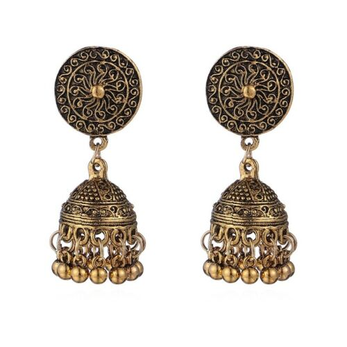 Women/'s Vintage Bohemian Boho Tibetan Carved Beads Tassel Dangle Stud Earrings