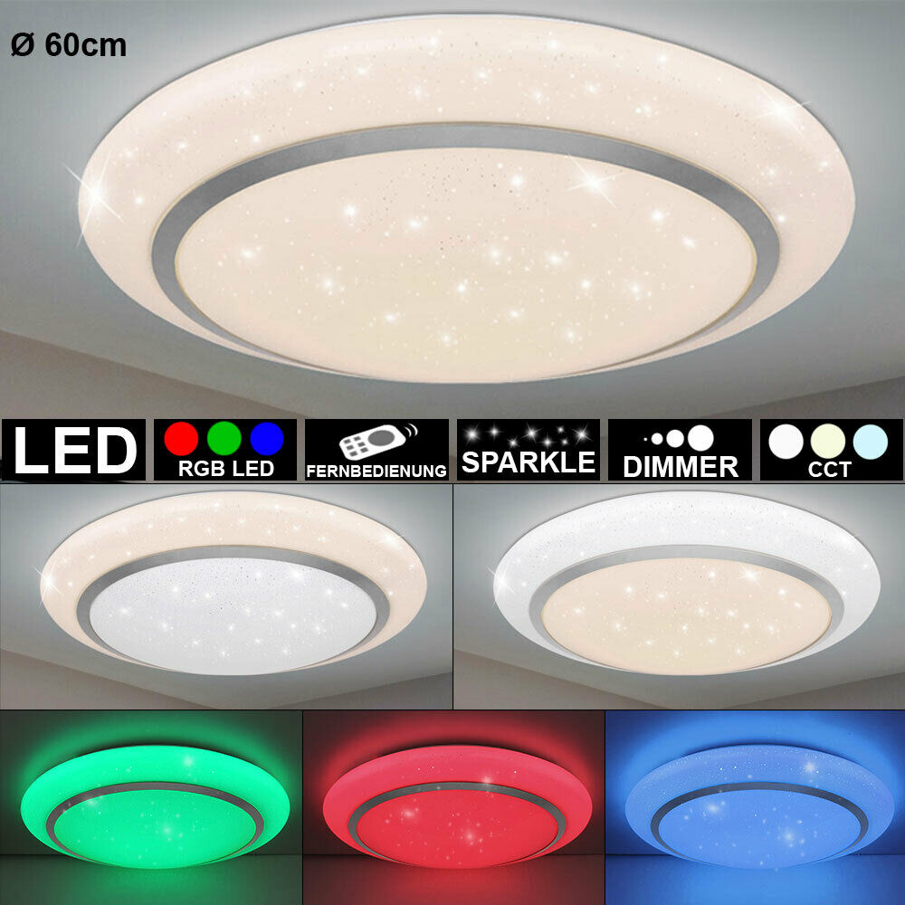 RGB LED Decken Lampe DIMMBAR Tageslicht Sternen Effekt Leuchte Fernbedienung