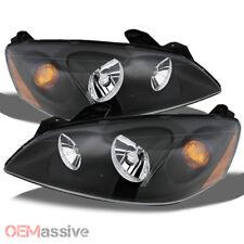 Fits 05 10 Pontiac G6 Black Bezel Headlights Headlamps Leftright 2005 2010 Fits Pontiac G6