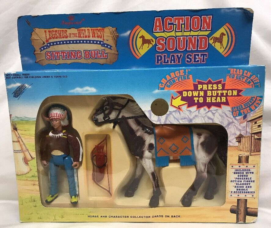 1991 legenden der wild - west - sitting bull & pferd imperial aktion klang playset