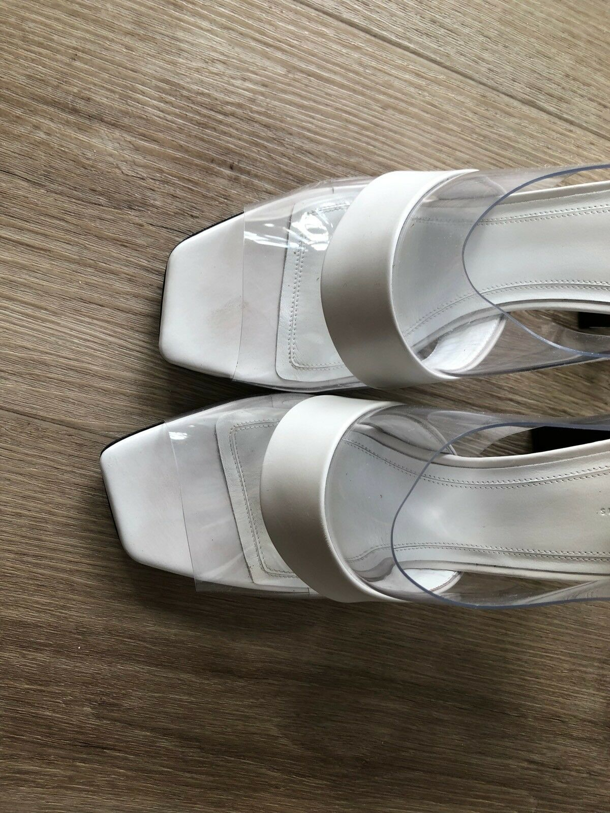 Celine Designer High Heels shoes sandals With Perspex Detail Barely Barely Barely Worn 0a0f29