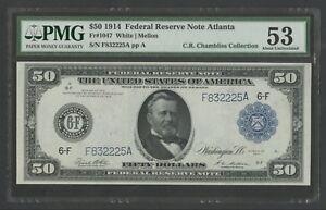 FR1047-50-1914-FRN-ATLANTA-PMG-53-CHOICE-AU-RARE-ONLY-53-RECORDED-WLM7098
