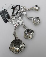 o Kitchen angels b 4 pc Measuring teaspoon Spoon Set made with love Ganz angel