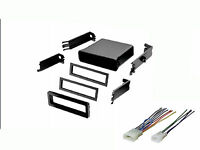 Toyota Universal Radio Stereo Install Mount Pocket Install Dash Kit Wire Harness on sale