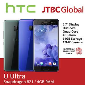 New HTC U Ultra 5.7 Inch Dual Sim 12MP 64GB Factory Unlocked Android Smartphone