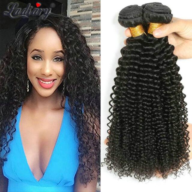 Indian Curly Hair 4 Bundles Virgin Human Hair Extensions Weave Weft