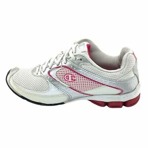 Champion Mens Lace Up Running Athletic White Pink Shoes Size US 7