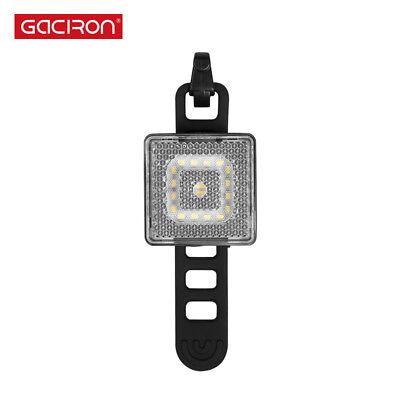 GACIRON  80 Lumens Smart Bicycle Front Head Warning Light Reflex Waterproof LED