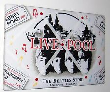 Beatles Liverpool  fabric covered,box framed,  Memo Pin Notice message board